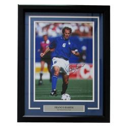Franco Baresi Signed Italy 19x24 Custom Framed Photo Display (Icons COA)