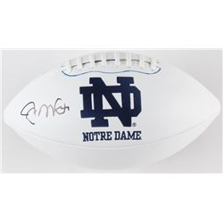 Joe Montana Signed Notre Dame Fighting Irish Logo Football (Beckett COA)