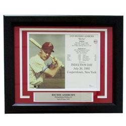 Richie Ashburn Signed Philadelphia Phillies 14x17 Custom Framed Photo Display (JSA COA)