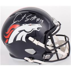 Courtland Sutton Signed Denver Broncos Full-Size Speed Helmet (Beckett COA)