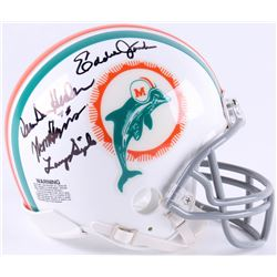 1972 Miami Dolphins Mini-Helmet Signed by (7) with Vern Den Herder, Larry Seiple, Norm Evans, Dick A