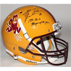 "Jake Plummer Signed Arizona State Sun Devils Full-Size Helmet Inscribed ""1996 Pac 10 Player of the Y"