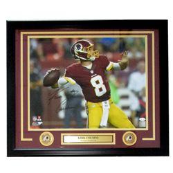 Kirk Cousins Signed Washington Redskins 22x27 Custom Framed Photo Display (JSA COA)