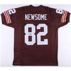 """Ozzie Newsome Signed Cleveland Browns Jersey Inscribed """"HOF 99"""" (Beckett COA)"""