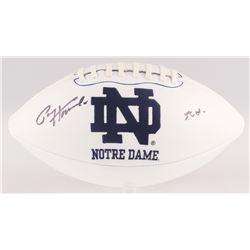 "Paul Hornung Signed Notre Dame Fighting Irish Logo Football Inscribed ""56 H."" (JSA COA)"
