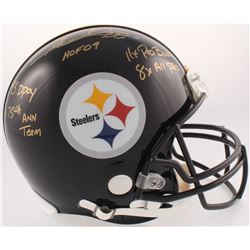 Rod Woodson Signed Pittsburgh Steelers Full-Size Authentic On-Field Helmet wiht (5) Career Stat Insc