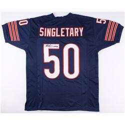 "Mike Singletary Signed Chicago Bears Jersey Inscribed ""HOF 98"" (JSA COA)"