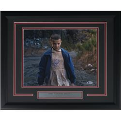 "Millie Bobby Brown Signed ""Stranger Things"" 16x20 Custom Framed Photo Display Inscribed ""011"" (Becke"