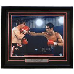 Alexis Arguello Signed UFC 22x27 Custom Framed Photo Display (Beckett  SI COA)