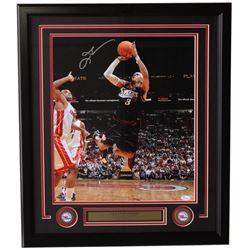 Allen Iverson Signed Philadelphia 76ers 22x27 Custom Framed Photo Display (JSA COA)