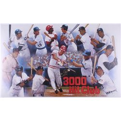 """Pete Rose Signed """"3000 Hit Club"""" 23x38 Lithograph Inscribed """"Hit King"""" (JSA COA)"""