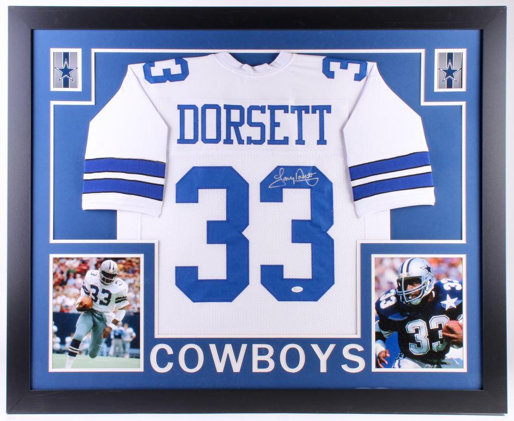 the best attitude 37e0e d490b Tony Dorsett Signed Dallas Cowboys 35x43 Custom Framed ...
