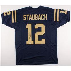 "Roger Staubach Signed Navy Midshipmen Jersey Inscribed ""Heisman'63"" (JSA COA)"