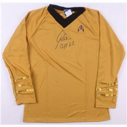"William Shatner Signed Star Trek ""Captain James T. Kirk"" Prop Replica Uniform Shirt Inscribed ""Capta"