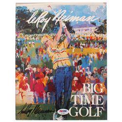 "Jack Nicklaus Signed LeRoy Neiman ""Big Time Golf"" Art Gallery Promotional Booklet (PSA COA)"