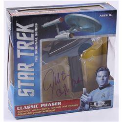 "William Shatner Signed Toy Star Trek Movie Phaser Inscribed ""Captain Kirk"" (Beckett COA)"