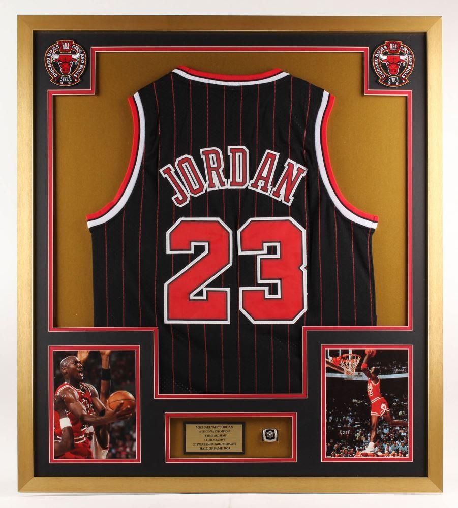 hot sales d27b4 74218 Michael Jordan Chicago Bulls 32x36 Custom Framed Jersey ...