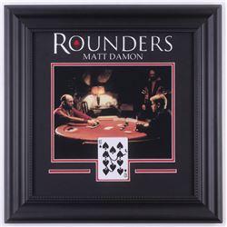 "Matt Damon Signed ""Rounders"" 18x18 Custom Framed Playing Card Display with Photo (JSA COA)"