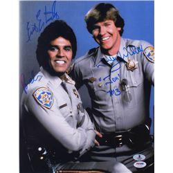 "Erik Estrada  Larry Wilcox Signed ""CHiPs"" 11x14 Photo Inscribed ""Ponch"", ""Jon""  ""7M3"" (PSA  Beckett"