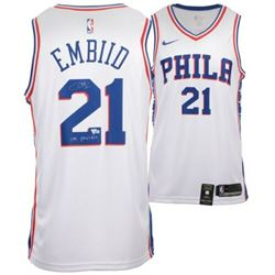 "Joel Embiid Signed Philadelphia 76ers Nike Jersey inscribed ""The Process"" (Fanatics Hologram)"