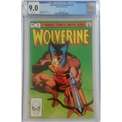 "1982 ""Wolverine"" Issue #4 Marvel Comic Book (CGC 9.0)"