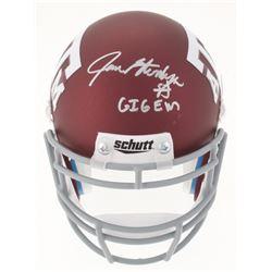 """Jace Sternberger Signed Texas AM Custom Matte Maroon Mini-Helmet Inscribed """"GIG EM"""" (TriStar Hologra"""