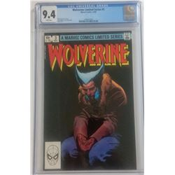 "1982 ""Wolverine"" Issue #3 Marvel Comic Book (CGC 9.4)"