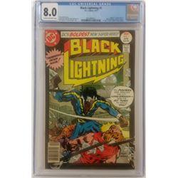 """1977 """"Black Lightning"""" Issue #1 DC Comic Book (CGC 8.0)"""