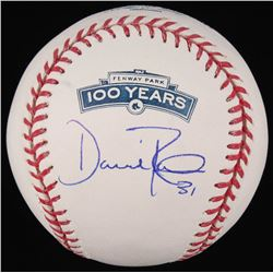 "Dave Roberts Signed ""Fenway Park 100 Year Anniversary"" OML Baseball (New England Picture COA)"