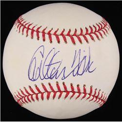Carlton Fisk Signed OML Baseball (MLB Hologram)