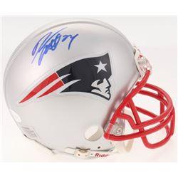 Darrelle Revis Signed New England Patriots Mini Helmet (JSA COA)