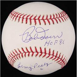 "Bob Doerr  Johnny Pesky Signed OML Baseball Inscribed ""HOF 84"" (JSA COA)"