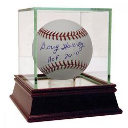 """Doug Harvey Signed OML Baseball Inscribed """"HOF 2010"""" (JSA Hologram)"""