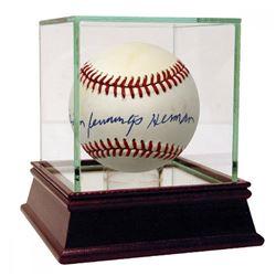 """William Jennings """"BIlly"""" Herman Signed ONL Baseball (JSA Hologram)"""