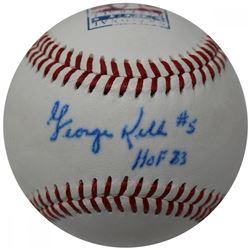 """George Kell Signed Hall of Fame Logo Baseball Inscribed """"HOF 83"""" (JSA Hologram)"""