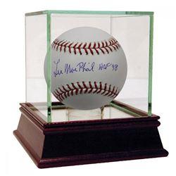 "Lee Macphail Signed OML Baseball Inscribed ""HOF 98"" (JSA Hologram)"