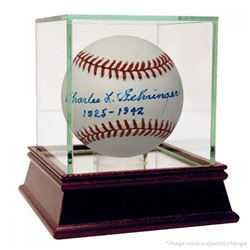 "Charles Gehringer Signed OAL Baseball Inscribed ""1925-1942"" (PSA COA)"