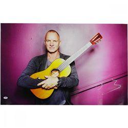 Sting Signed 20x24 Canvas (PSA Hologram)