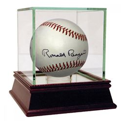 Ronald Reagan Signed Davey Lopes Autograph Model Baseball with Display Case (JSA LOA)