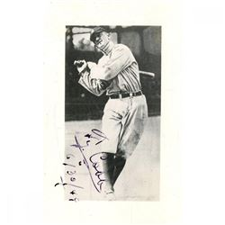"Ty Cobb Signed Tigers 2x4 Photo Inscribed ""6/30/49"" (JSA Hologram)"