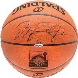 Michael Jordan Signed LE Hall of Fame 50th Anniversary Logo Spalding Basketball (UDA COA)