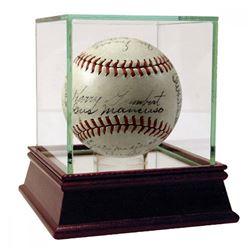 1937 New York Giants Baseball Team-Signed by (19) with Mel Ott, Gus Mancuso, Carl Hubbell (PSA COA
