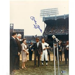 """Mickey Mantle Signed Yankees 11x14 Photo with Bobby Kennedy Inscribed """"1965"""" (JSA COA)"""