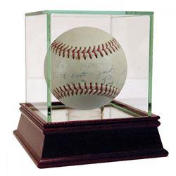Pie Traynor Signed ONL Baseball (JSA Hologram)