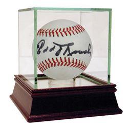 Edd Roush Signed ONL Baseball with High Quality Display Case (Steiner COA)
