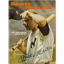 Mickey Mantle Signed Sports Illustrated Magazine (PSA Hologram)