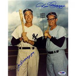 Joe DiMaggio  Dom DiMaggio Signed 8x10 Photo (PSA COA)
