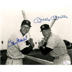 Mickey Mantle  Stan Musial Signed 8x10 Photo (JSA Hologram)