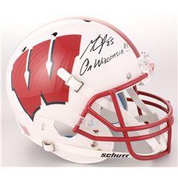 "Melvin Gordon Signed Wisconsin Badgers Full-Size Helmet Inscribed ""On Wisconsin!!!"" (Radtke COA)"