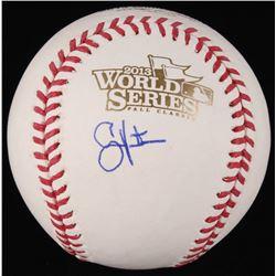 Shane Victorino Signed 2013 World Series Baseball (JSA COA)